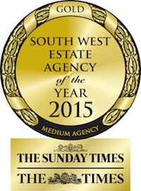 Gold - South West estate agency of the year 2015 - The Sunday Times & The Times